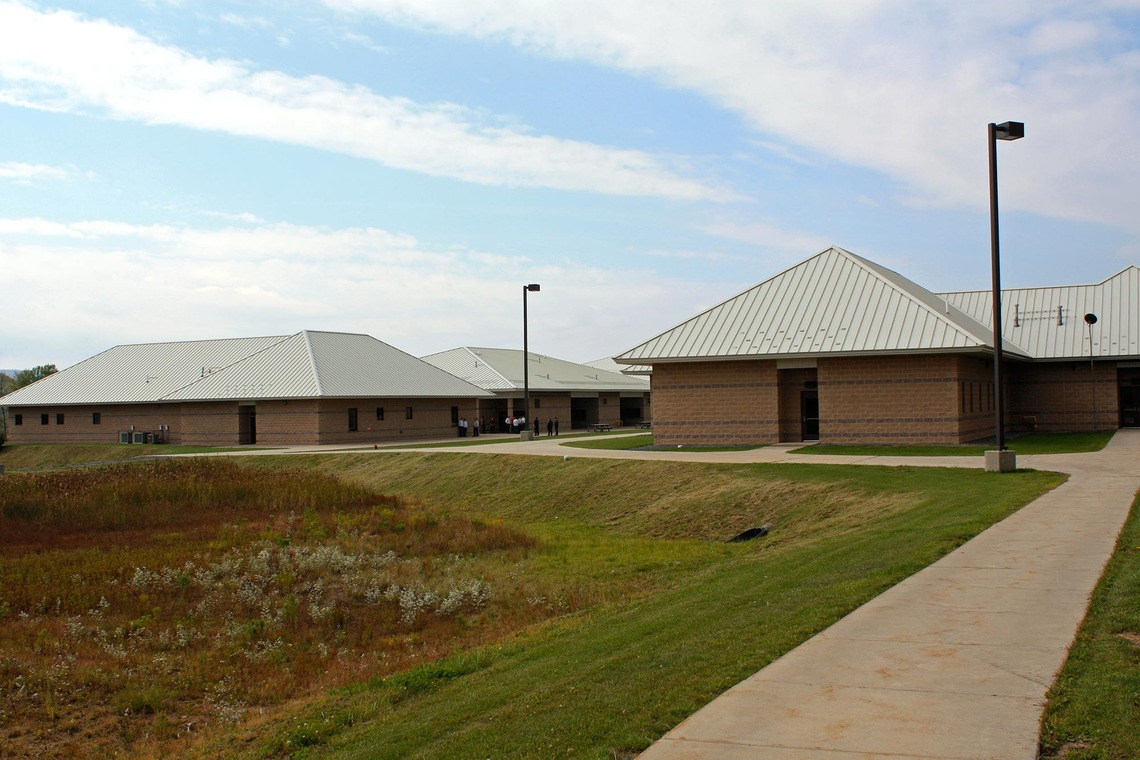 """Kenneth """"Honey"""" Rubenstein juvenile detention facility in Davis, West Virginia. The five-year old, $24 million facility sits on 50 acres and has a campground that residents can use under supervision."""