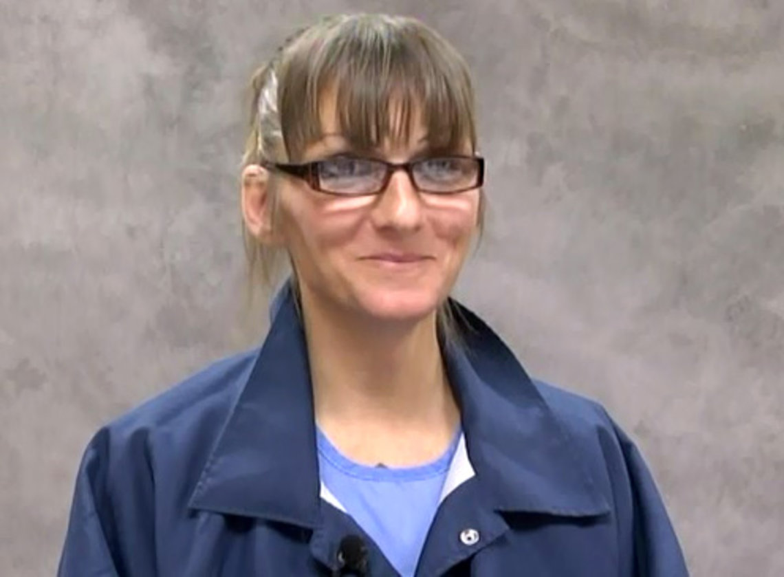 Michelle-Lael Norsworthy in a still from video of her deposition in December 2014.