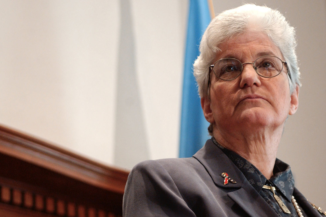 Former Philadelphia County District Attorney Lynne Abraham in 2002.