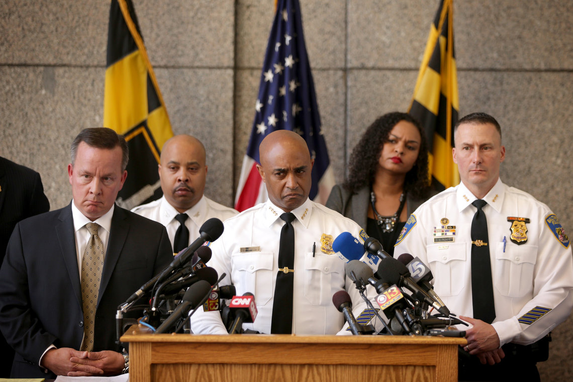 Baltimore City Police Commissioner Anthony Batts speaks at a news conference about the death of Baltimore resident Freddie Gray in Baltimore, Md., on April 24, 2015.