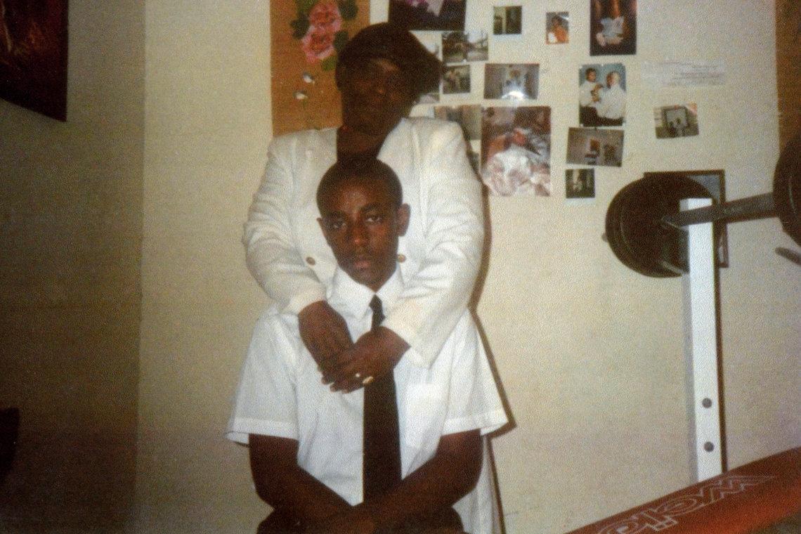 Buchanan, 13, with a family friend in June 1990.