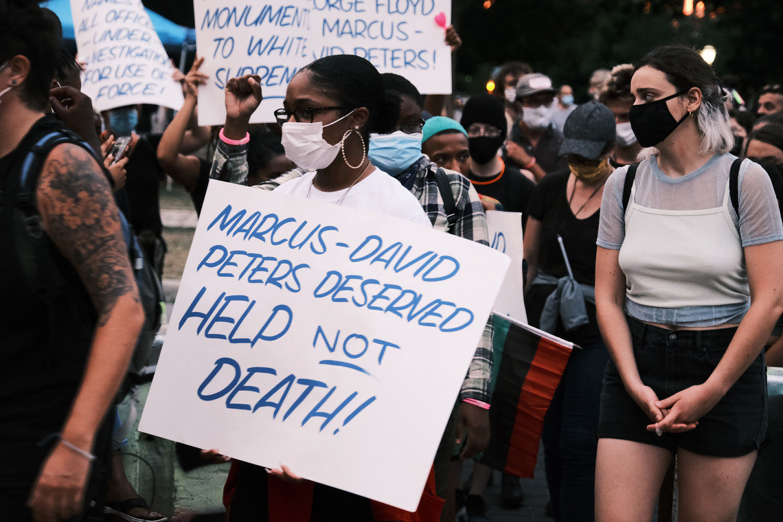 A group of protesters in Richmond took to the street demanding that the case of Marcus-Davis Peters be reopened. Marcus-David was a 24-year-old African-American man who was shot and killed by a Richmond police officer on May 14, 2018, while experiencing a mental health crisis.