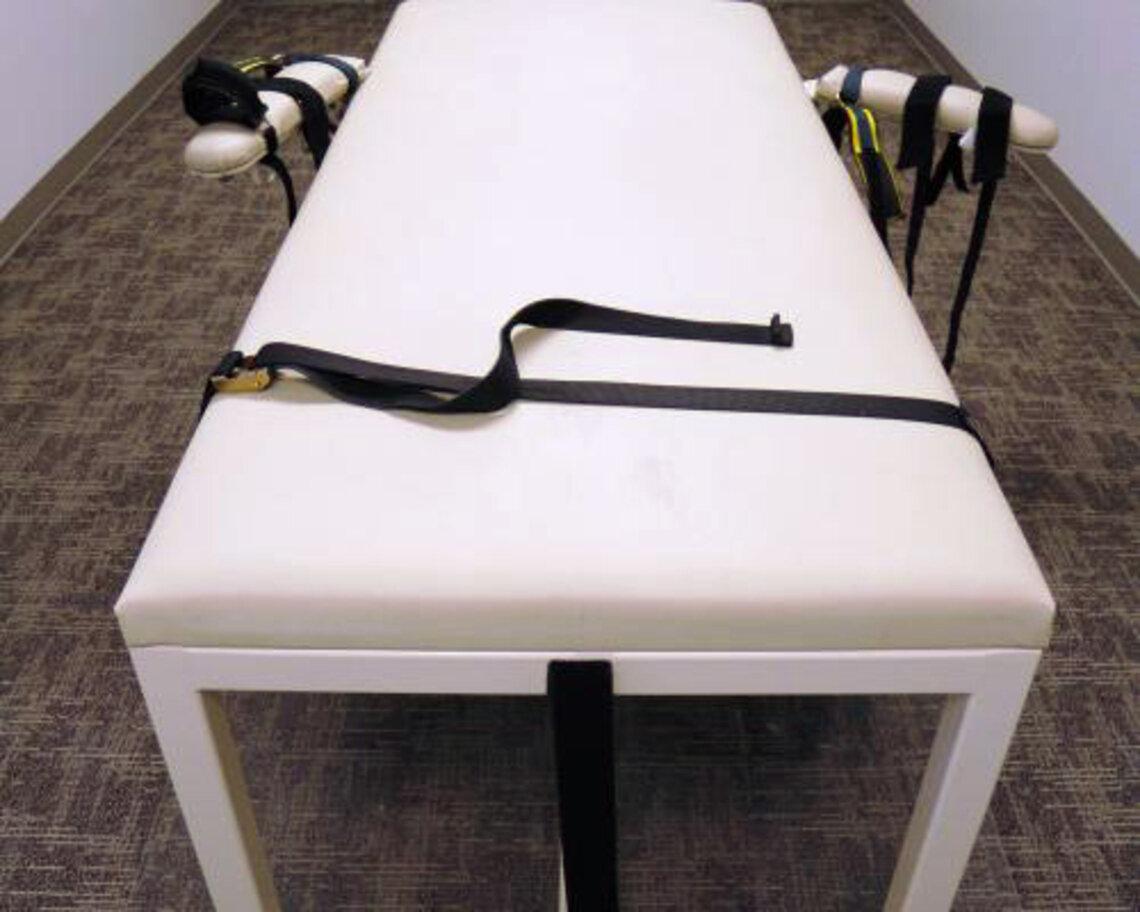 The execution table at the Idaho Maximum Security Institution, near Boise, Idaho.