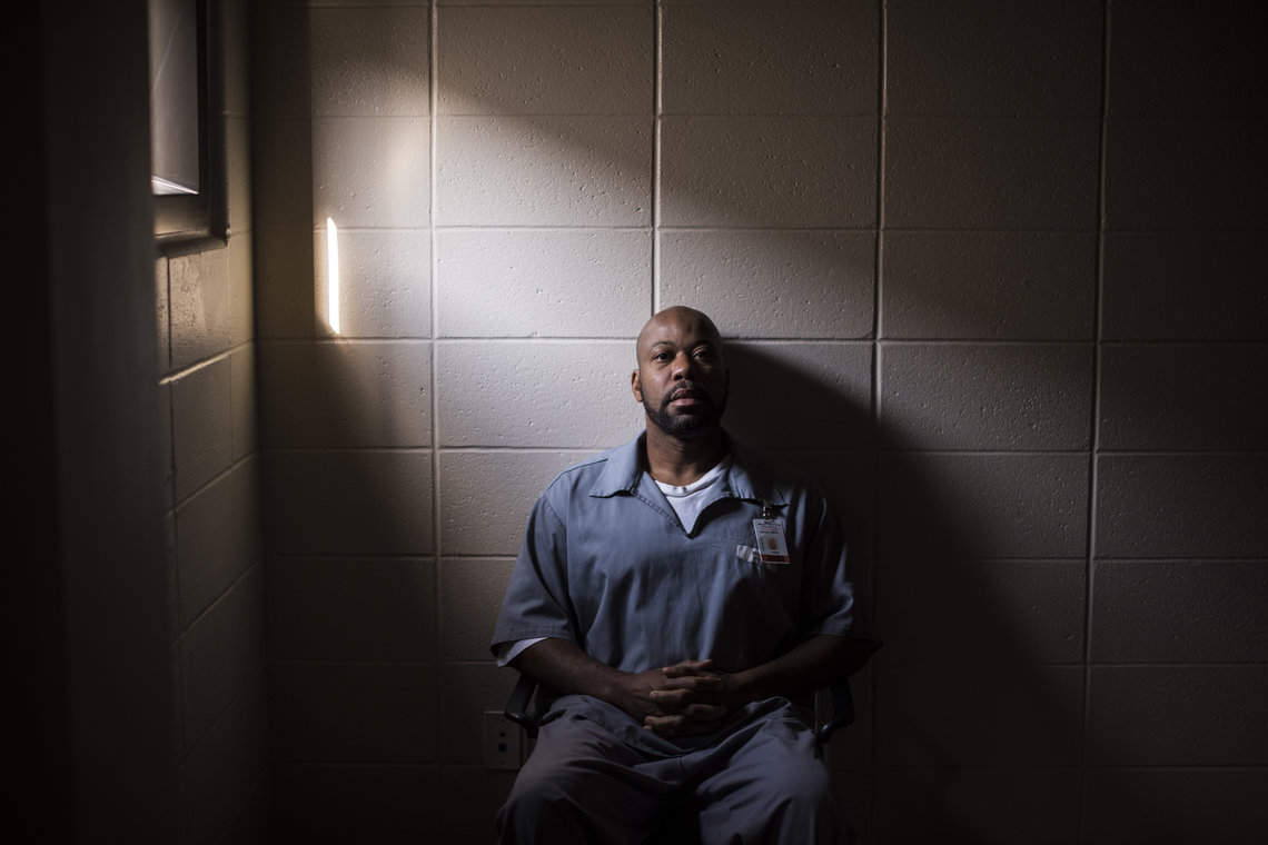Keith Drone, 44, at the Western Reception Diagnostic Correctional Center in St. Joseph, Mo. Drone has been incarcerated for 26 years and has been denied parole at five separate parole-board hearings.