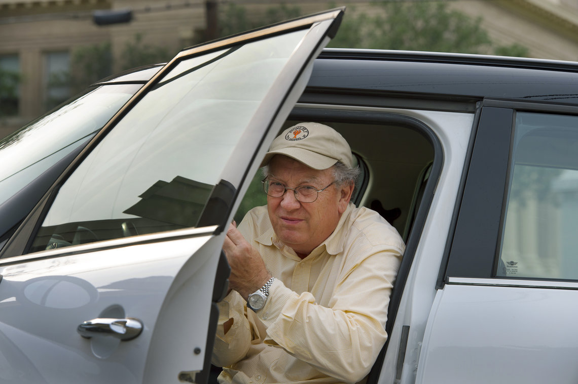 Former Navarro County prosecutor, John H. Jackson, gets in his car on July 23, 2014 in Corsicana, Texas.