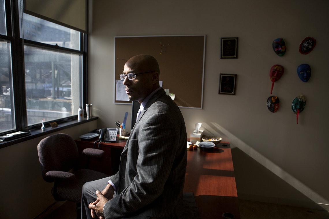 Ronald Day, a former inmate who is currently earning a Ph.D. at John Jay College of Criminal Justice.