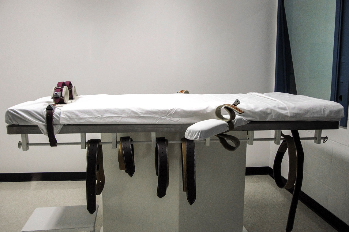 Nebraska's lethal injection chamber at the State Penitentiary in Lincoln.