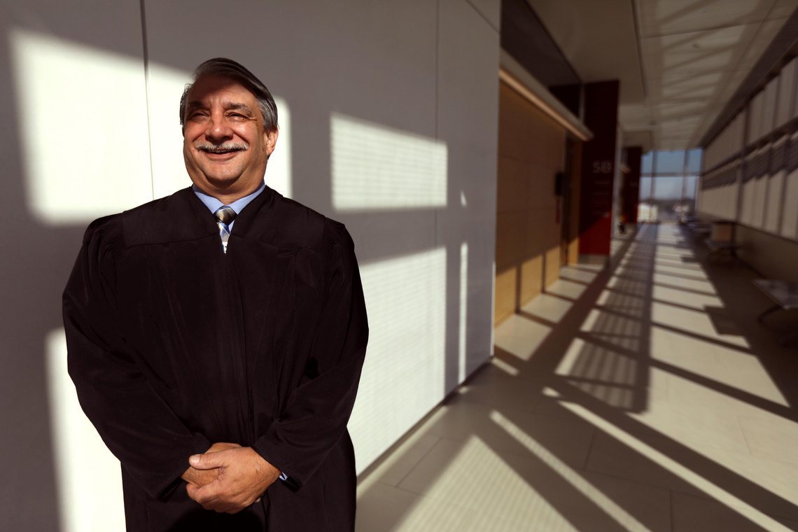 Judge Richard Vlavianos oversees Stockton's collaborative courts, where clients are supervised by judicial officers who oversee their treatment progress through regular court hearings.