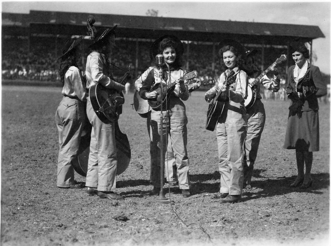 A late 1940s incarnation of the Goree Girls performs at the prison rodeo.