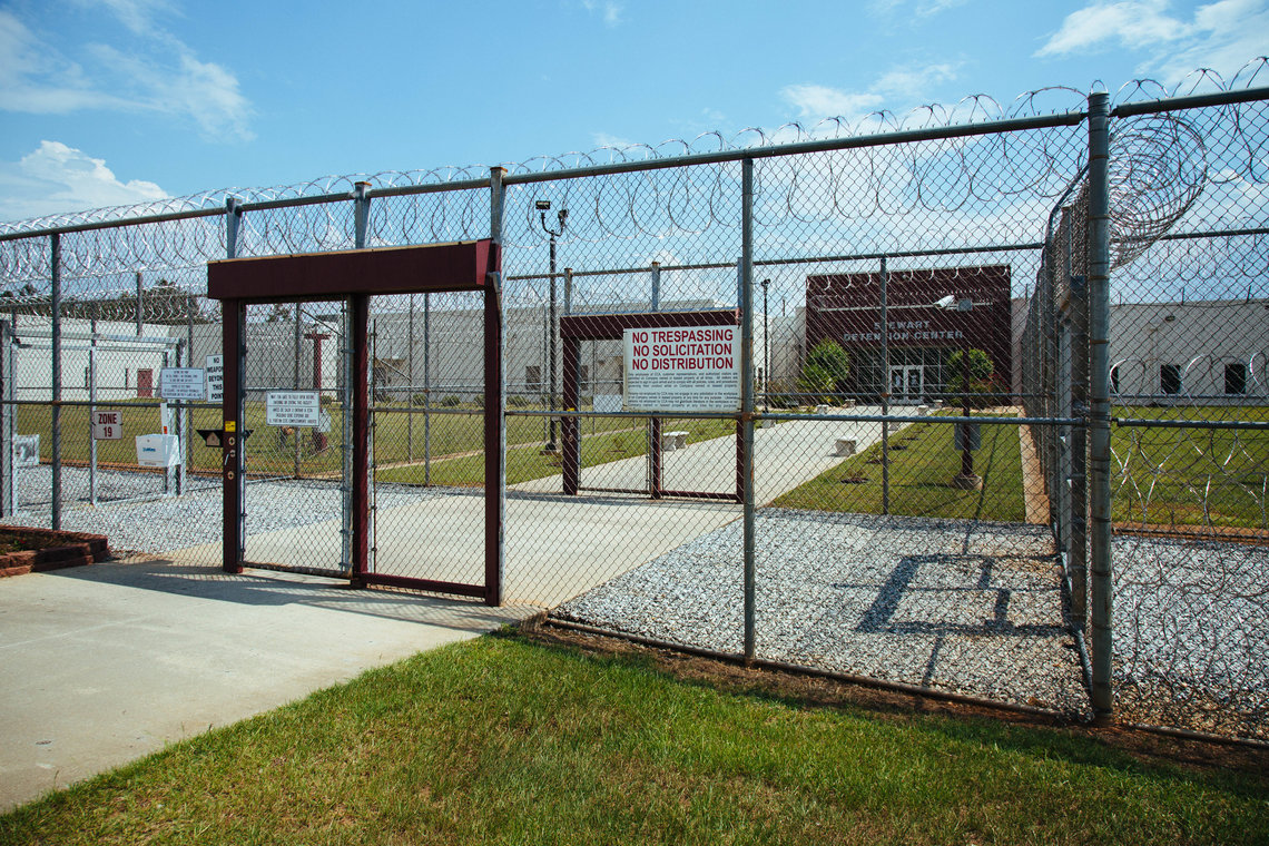 The Stewart Detention Center in Lumpkin, Ga., has the highest deportation rate in the country.