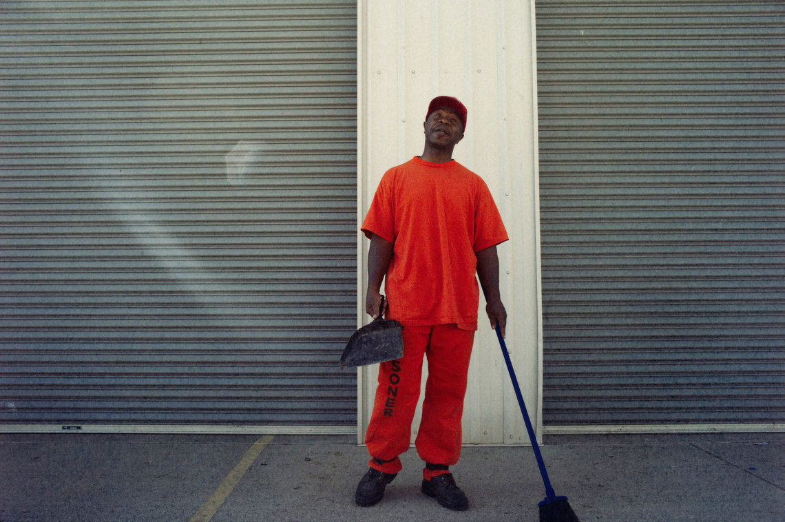 Prisoners earn credits to reduce their sentences by performing maintenance on the camp and working in the community.