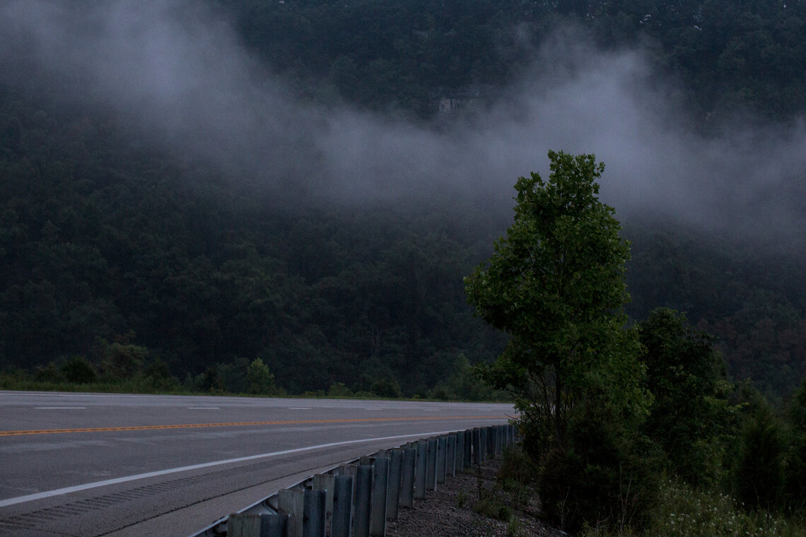 Mountains outside Richmond, Ky. Rural areas of the state often rely on troopers to handle police calls.