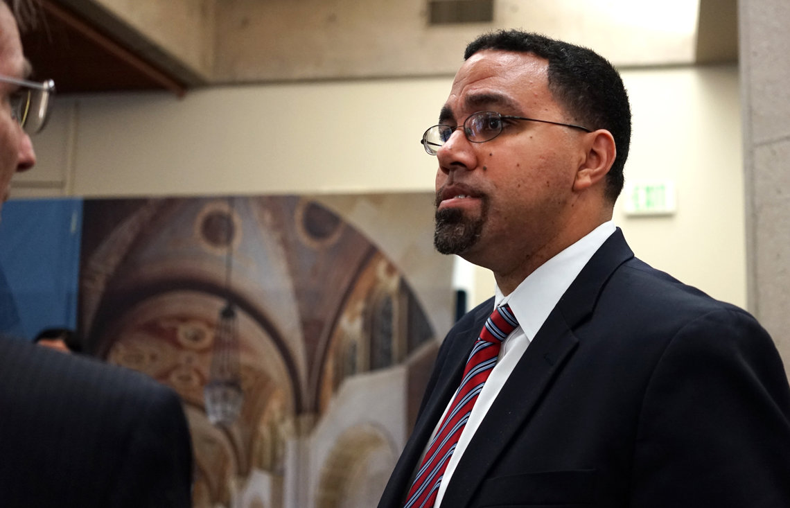 Department of Education Secretary John B. King, pictured here at the University of California in May, called the elimination by many schools of a question about students' criminal records