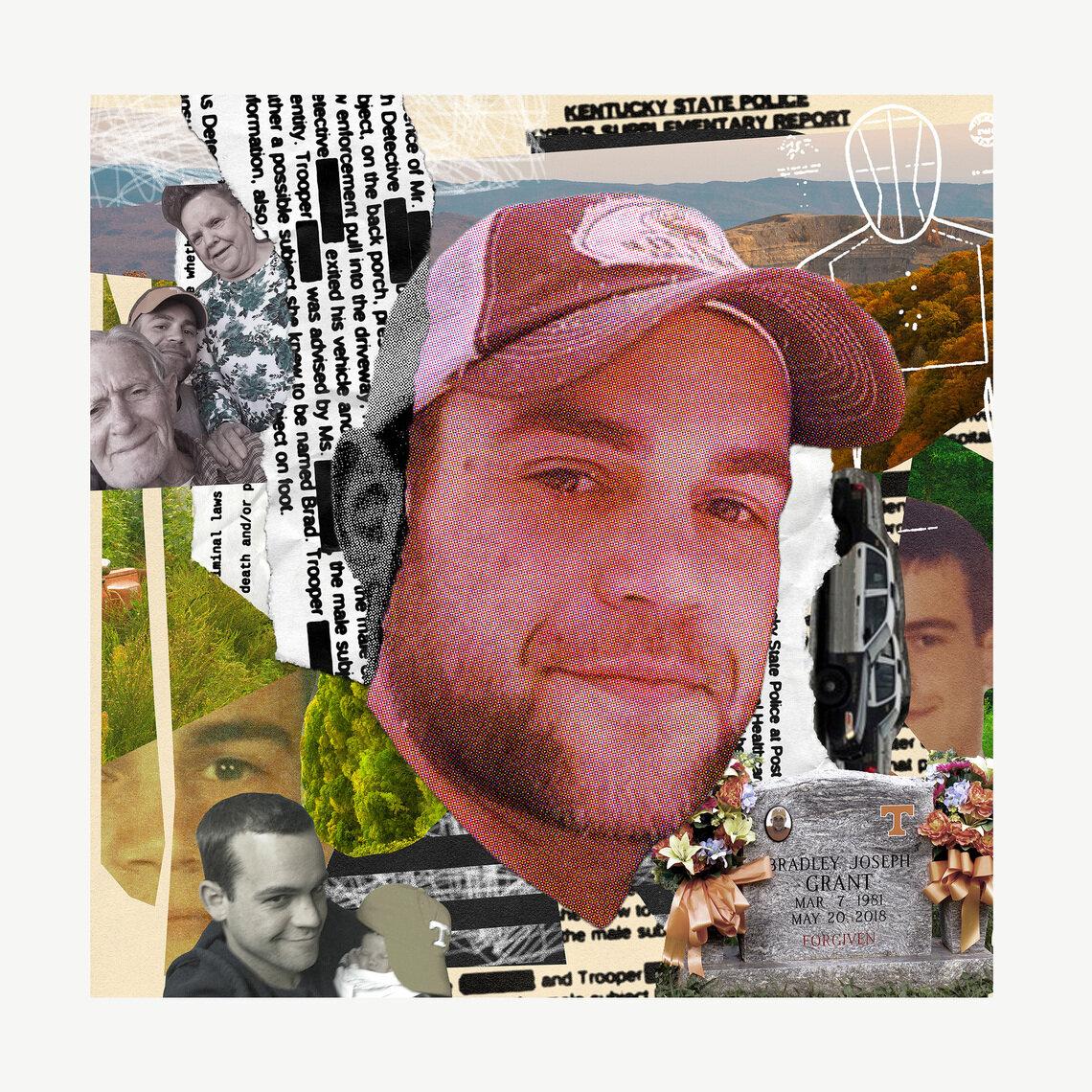 Bradley Grant in several family photos. State police killed him in 2018.