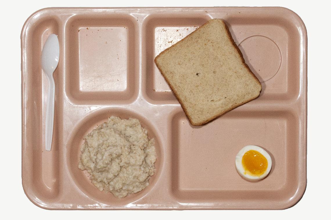 Breakfast at the Morgan County Jail in Morgan County, Alabama.