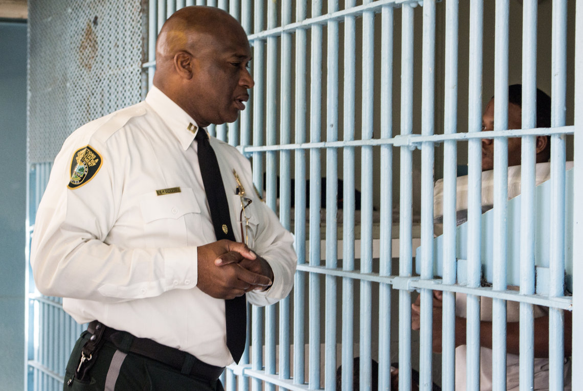 The main jail's current supervisor, Capt. Eddie Denson, spoke with inmates being held at the jail this November.