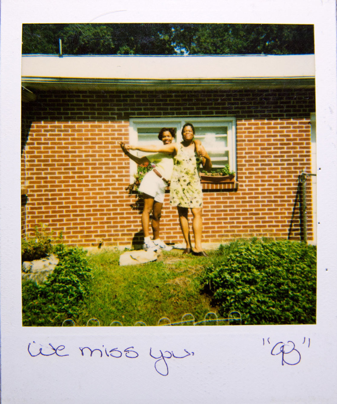 A Polaroid mailed to Ronald by his nieces while he was incarcerated in the 1990s.