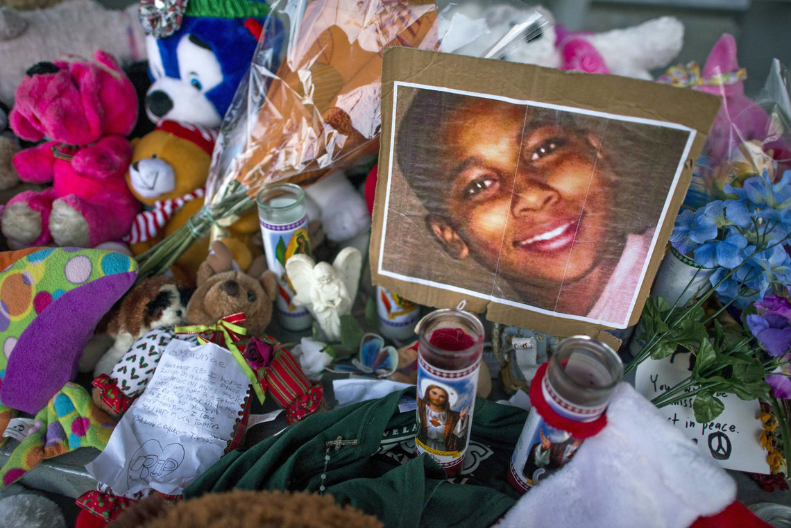 A memorial for Tamir Rice, a 12-year-old boy shot by the police on Nov. 22 as he held a toy gun outside a recreation center in Cleveland. Less than two weeks later, Attorney General Eric Holder announced the new civil rights investigation into allegations of excessive force by the police there. That was just a decade after the department found similar problems in an earlier inquiry.