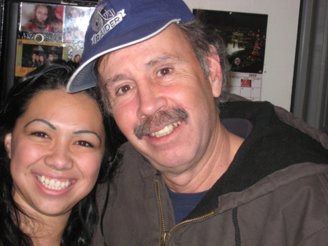 Jana Oman, left, with her father, Gerardo Arche-Felix, in January 2010, four years before he landed in the SMU.