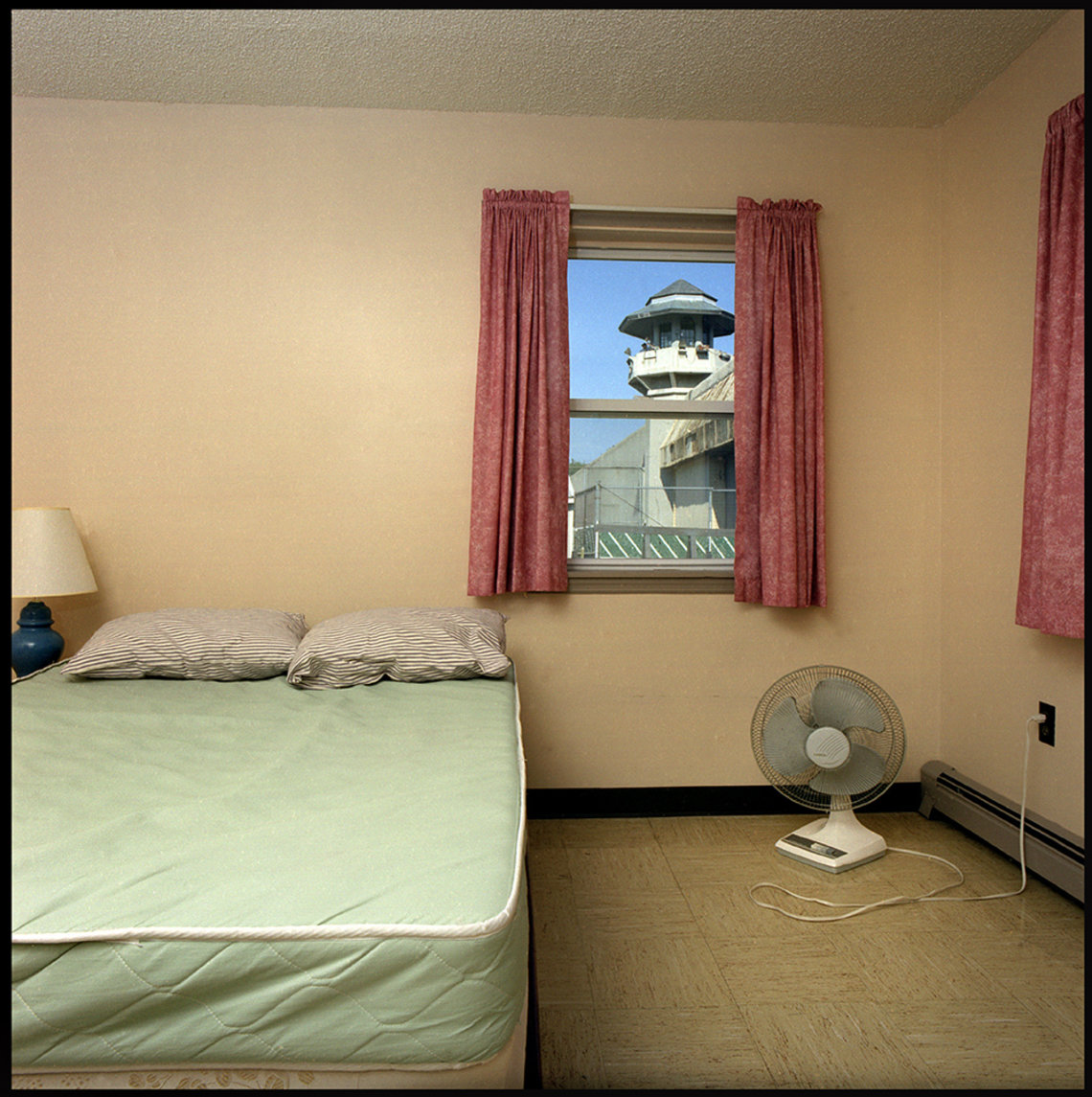 A conjugal visit bedroom at Auburn State