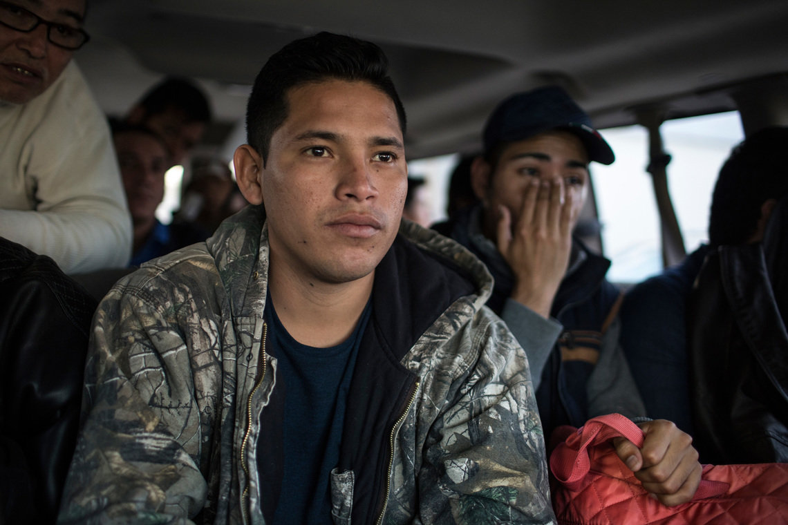 After deportation, Mexican migrants are often disoriented, struggling to devise new plans as they give up their hopes for advancement in the United States. Just after being deported from a detention center in Laredo, Luis, 23, of Campeche, Mexico, takes a van to the Instituto Tamaulipeco, a center that helps migrants get home within Mexico.