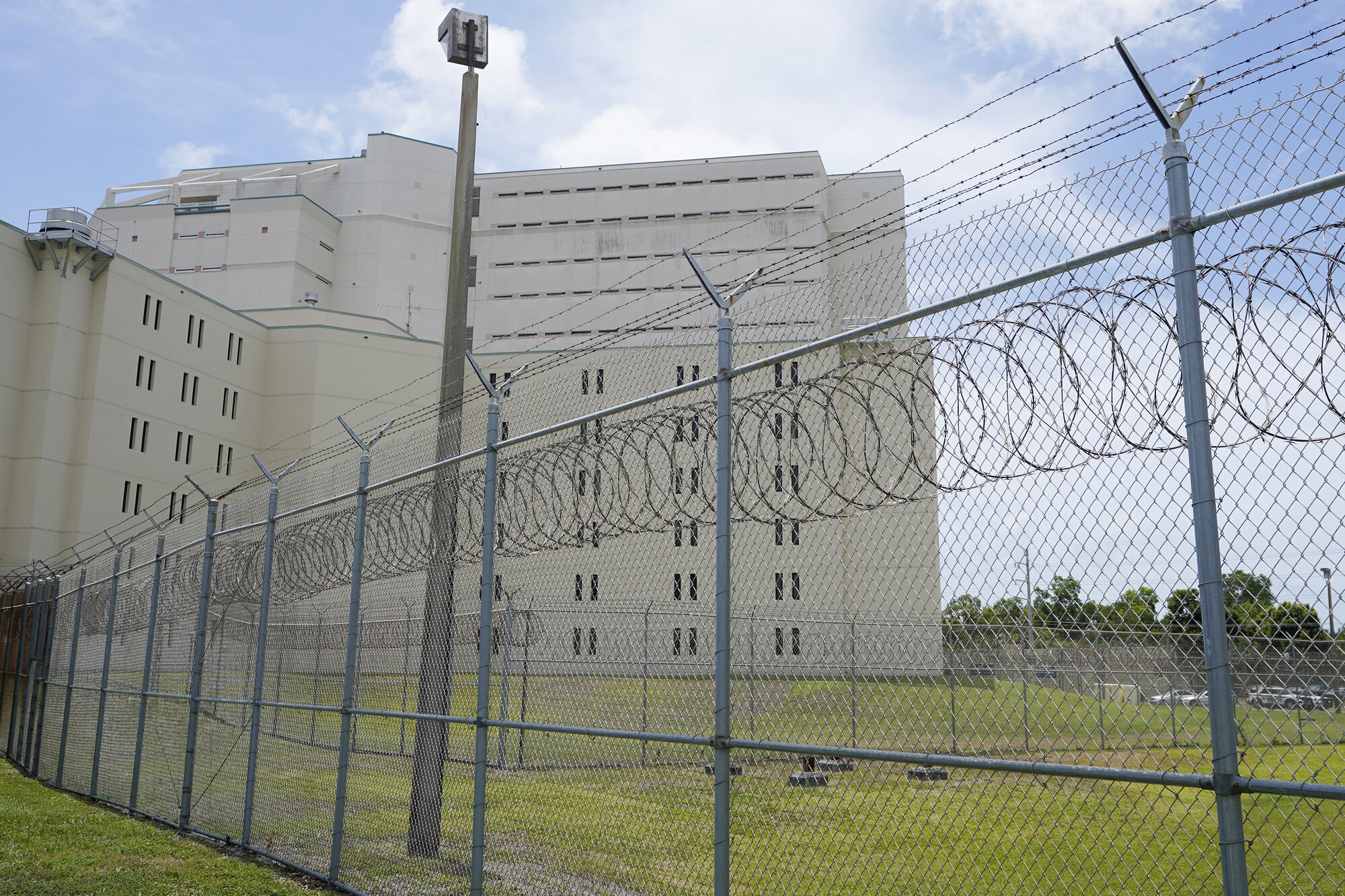 In Palm Beach County, Florida, the number of people in county jails, including the main detention center pictured here, dropped by nearly 250 during the pandemic.