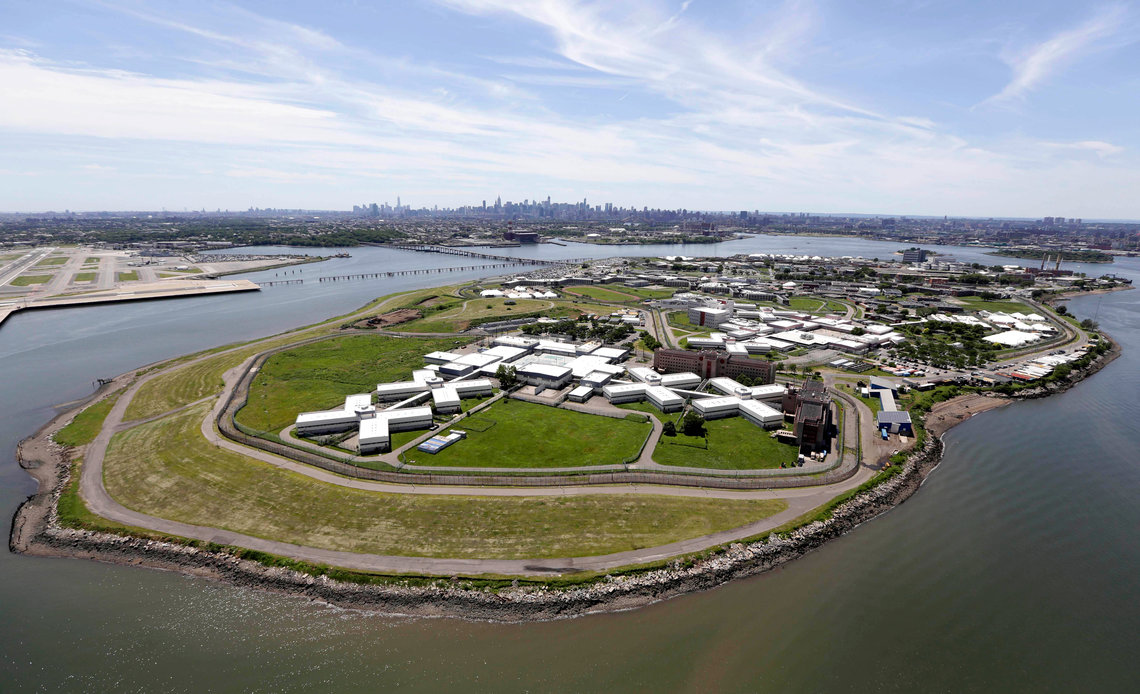 The Rikers Island jail complex in June 2014.