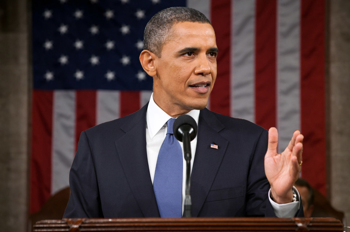 President Barack Obama delivering the State of the Union address in 2011.