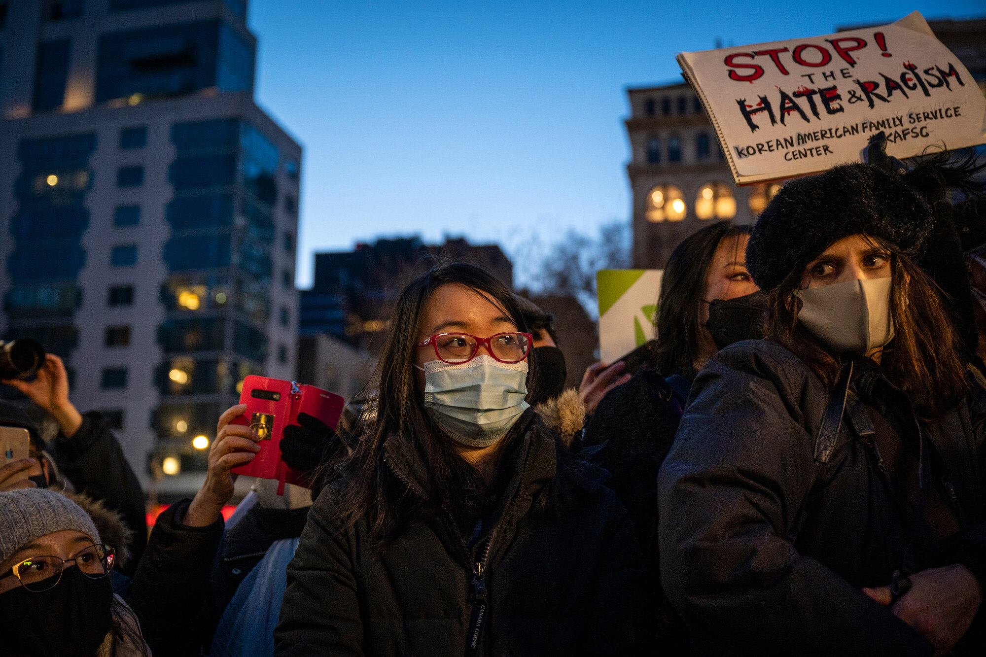 On March 19, 2021, hundreds of people packed into Union Square during an Asian American Federation peace vigil following the shootings in Atlanta.