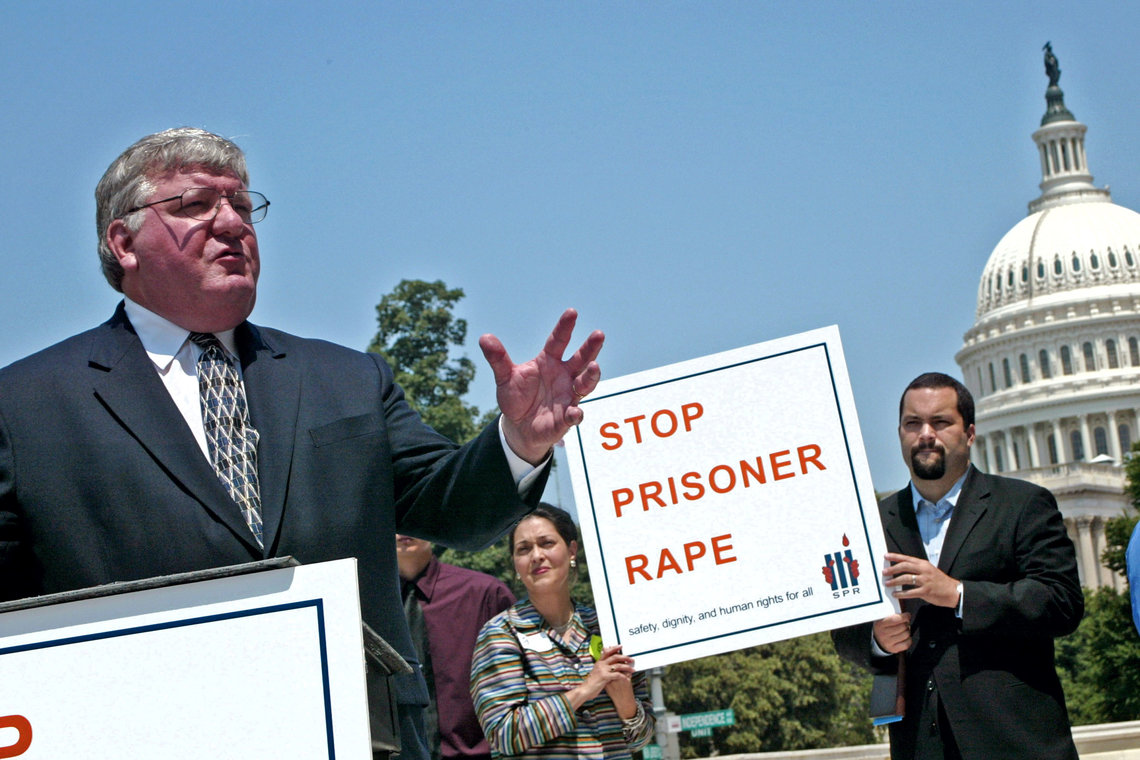 Nolan speaks during a press conference held by the Justice Fellowship outside the Capitol in 2003.