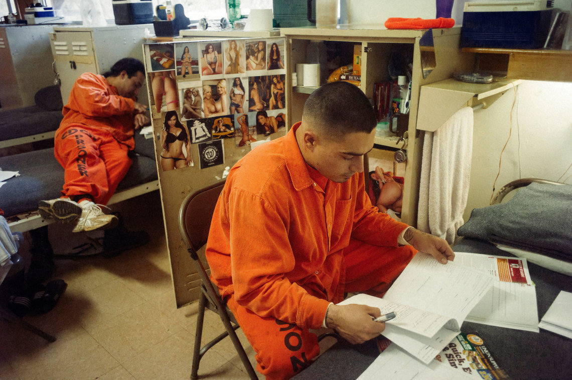 Inmates are encouraged to finish studies while they are serving their time, and many spend their time between fires working toward a GED or studying college courses.