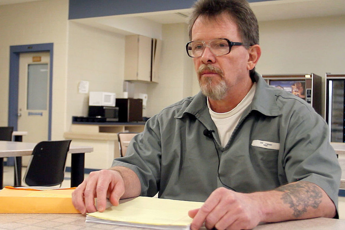 Brian McBenge in January at the Fulton Reception and Diagnostic Center in Missouri, where he and Cecil were housed for several months after their conviction.