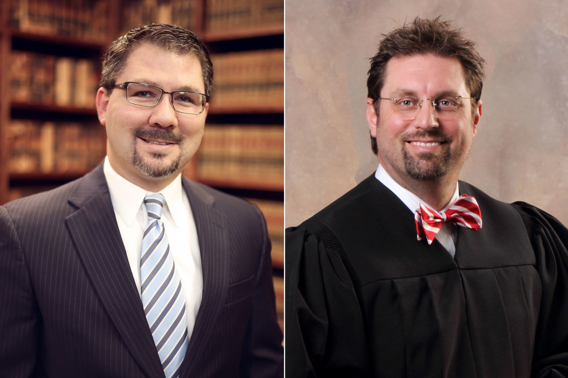 Judge David Boling, left, and Judge Tommy Fowler ran for judicial office as reformers who would alter the relationship between the the citizens of Craighead County, Arkansas and a private probation company called The Justice Network. They did, and got sued for it by the company.