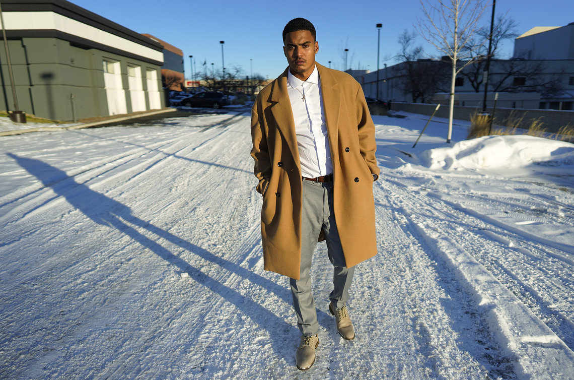 Donte Westmoreland, here in Denver in December, contracted COVID-19 while serving time at a prison in Kansas.