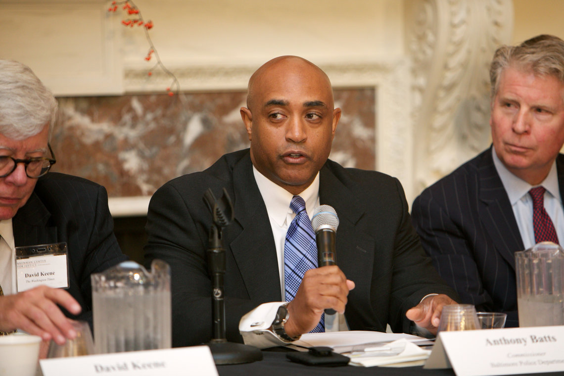 Anthony Batts speaking last September at the Brennan Center for Justice in New York.