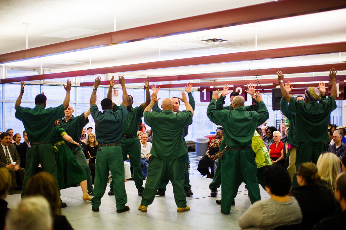 """The RTA program at the prison has 45 members in its theater group, 13 of whom performed in """"Twelfth Night."""""""