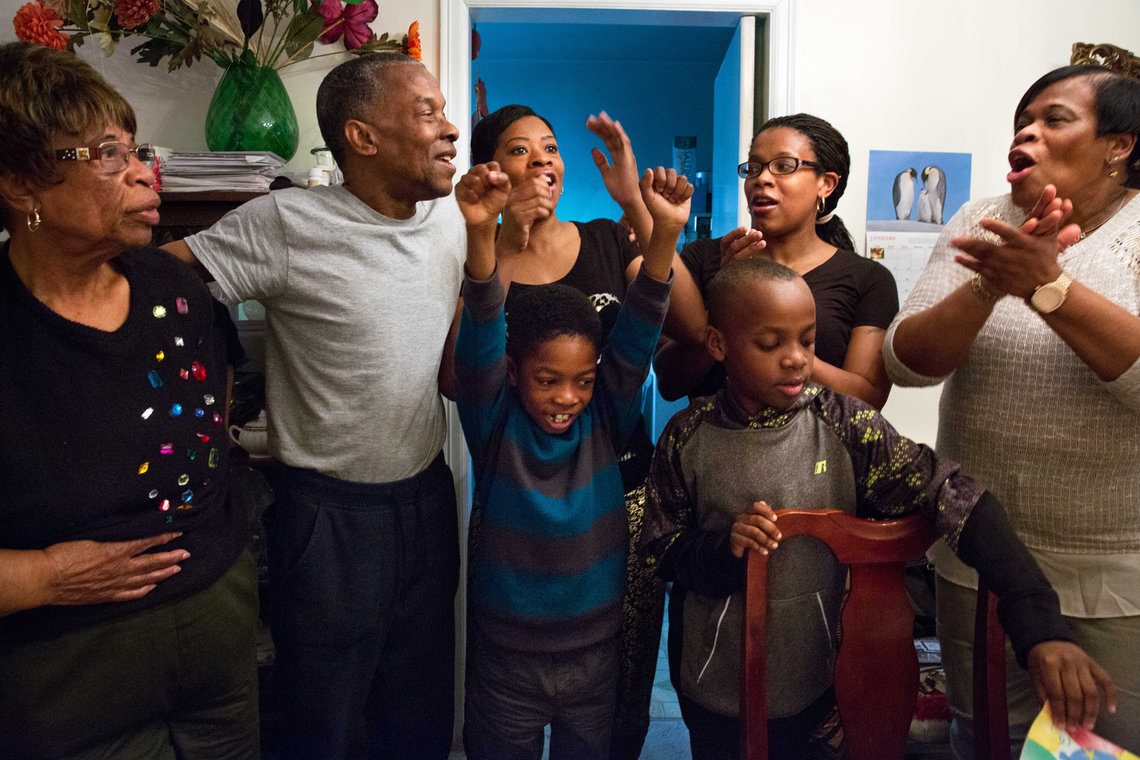 Elston celebrated Thanksgiving with his family for the first time in 33 years.