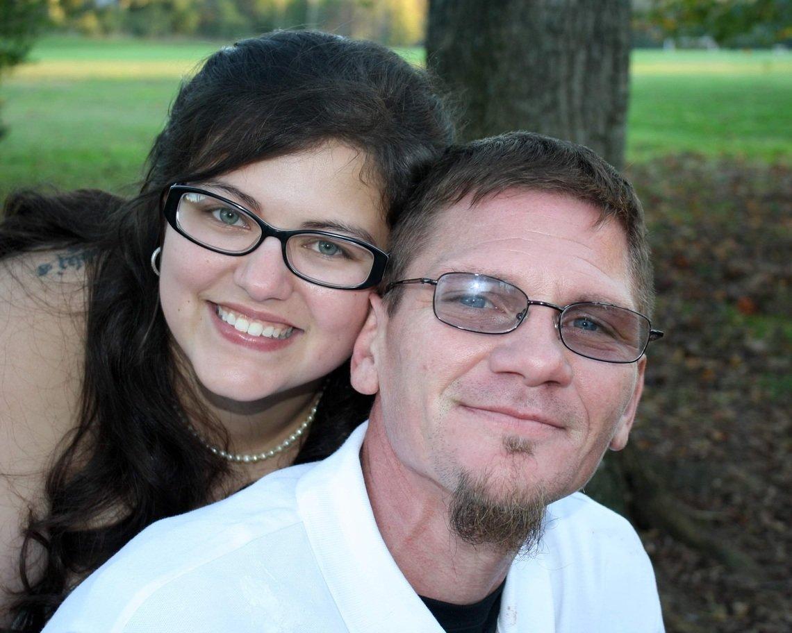 Tony McClurg, left, with his wife, Tiffany McClurg, in 2020.