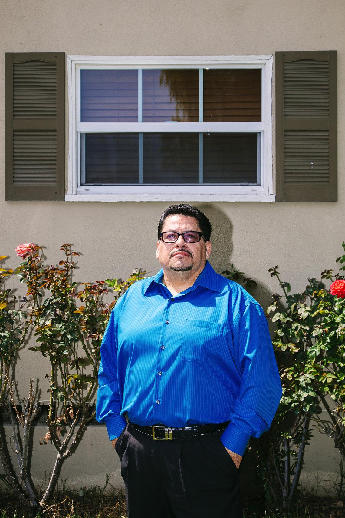 Richard Ortega, former halfway house director for the CEC, at his home in San Bernardino.