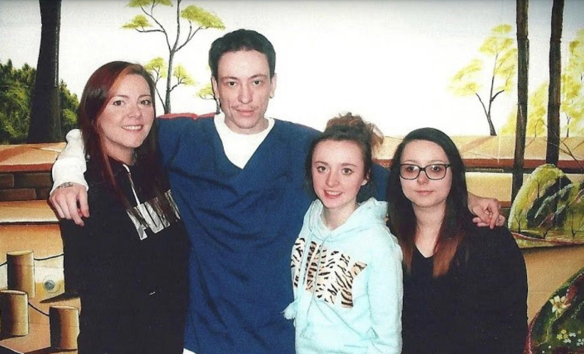 From left, Tiffany Walker with her siblings, Kenneth Robinson, Danni Franks and Shelbi Franks.  Tiffany went almost five years without being able to visit her brother.