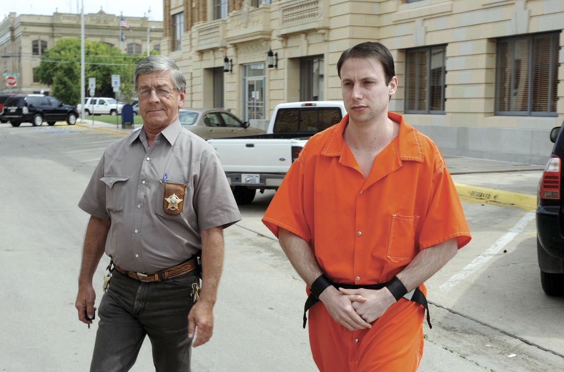 Levi King, right, was sentenced to life in prison without parole.  He killed a pregnant woman, her husband and her son in Pampa, Tx. in 2005.
