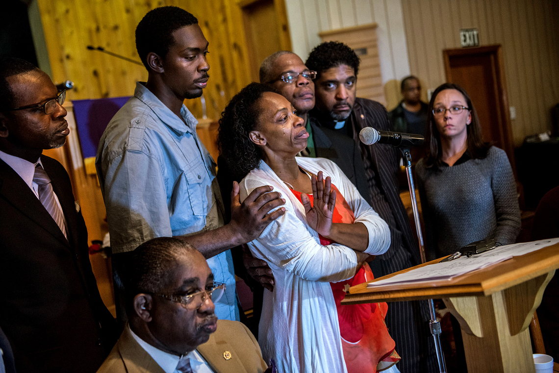 Leonard Lacy's mother, Claudia, met with the North Carolina conference of the NAACP at the First Baptist Church in Bladenboro, N.C. on December 1.