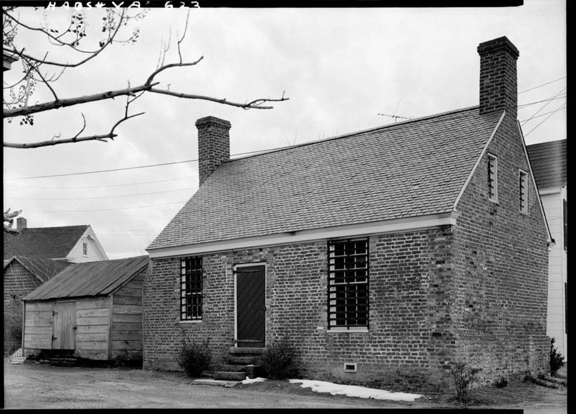 A building in Accomack County, Va., which served as a debtor's prison from 1824 to 1849.