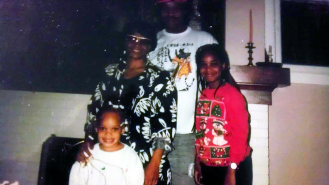 Phillip Chance with his wife, Jacquelyn Harris, and, from left, daughters Ro'Shauwnda and Jade.