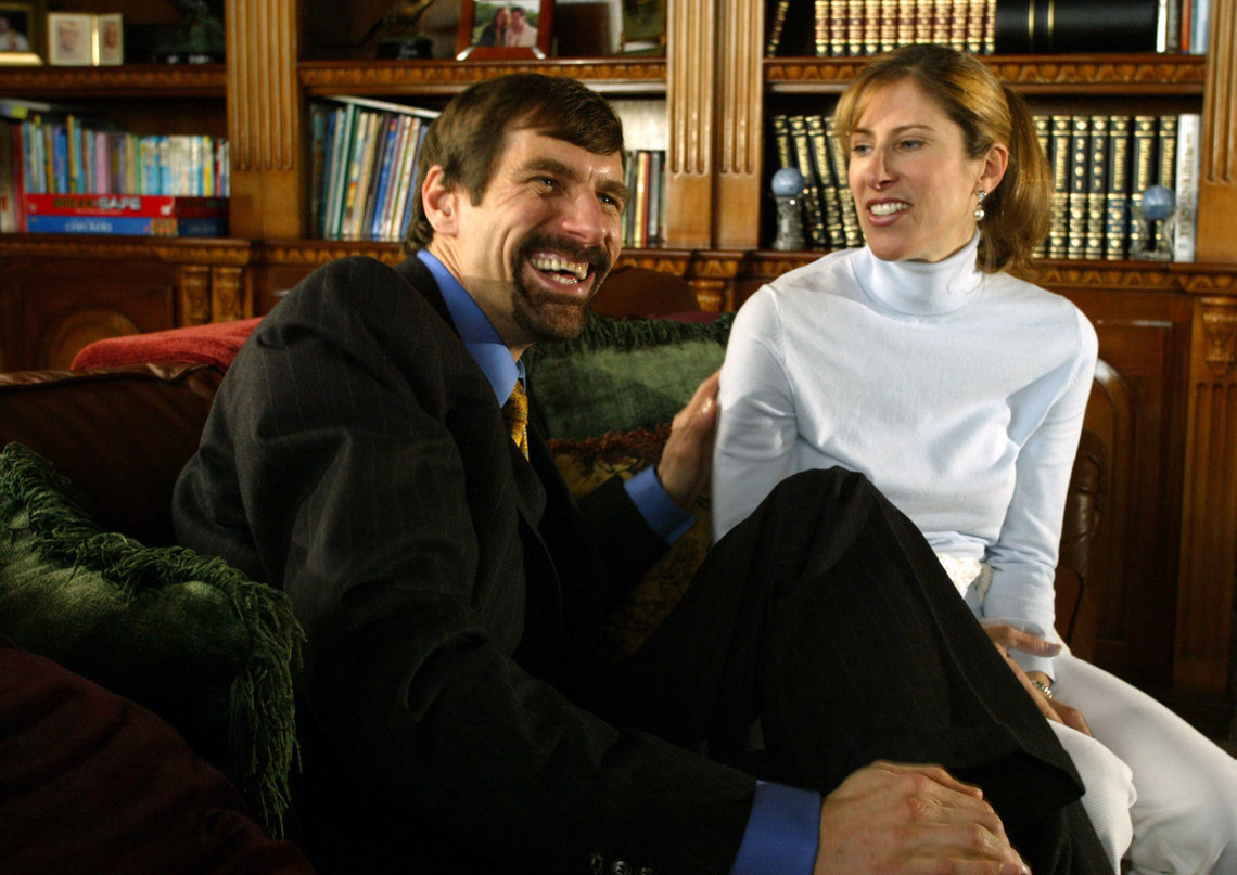 Henry Nicholas III and his former wife, Stacey, in 2004. She later accused her husband of threatening to have her killed.