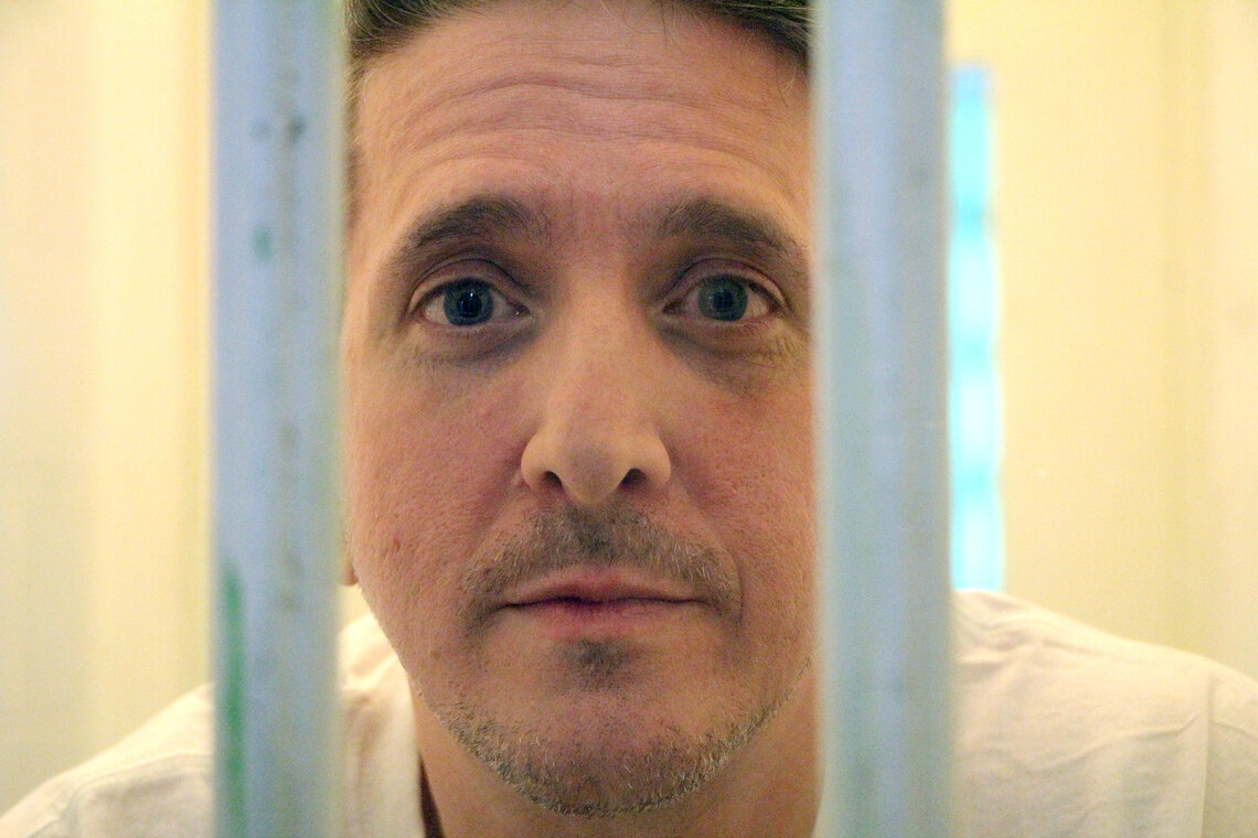Richard Glossip at Oklahoma State Penitentiary in McAlester, Okla. in November 2016. Glossip has been on death row for over two decades. His case has motivated Oklahoma state Rep. Kevin McDugle to pursue legislation that he hopes will fix the death penalty.