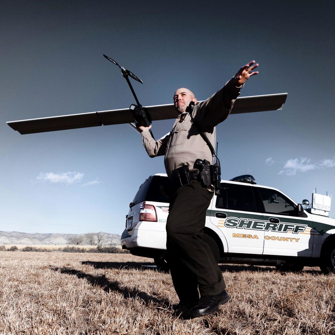 Deputy Derek Johnson of Colorado's Mesa County Sheriff's Office, one of the only departments in the country with permission to fly drones.