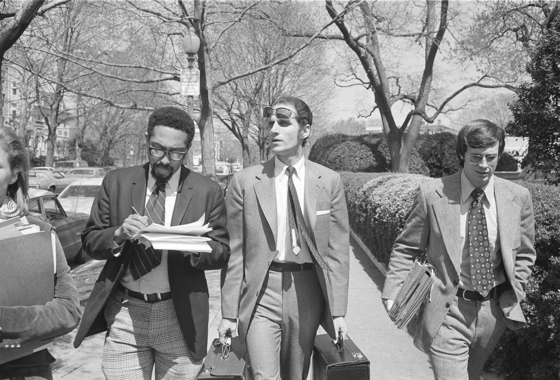 Anthony Amsterdam, center, a Stanford University law professor, led a team of lawyers in 1972 to convince the Supreme Court that the death penalty in America should be abolished.