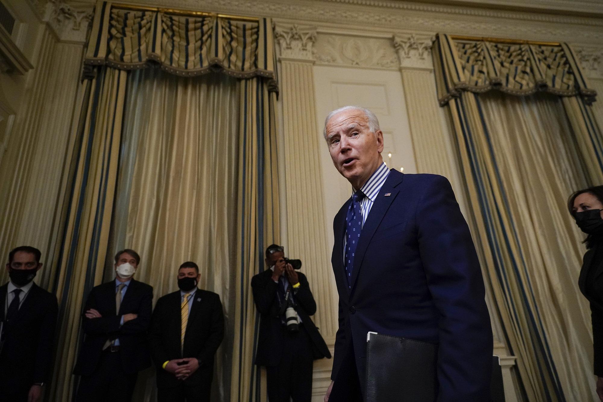 President Joe Biden at the White House in March.