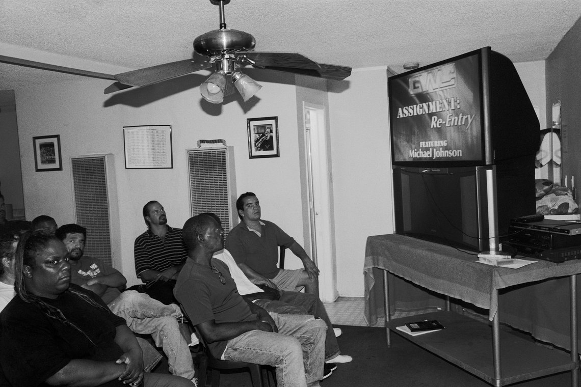 Residents watching a video about reentry. (Inglewood, 2008)